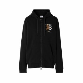 Burberry Contrast Logo Graphic Cotton Hooded Top