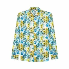 DUCHAMP LONDON Imogen Floral Print Shirt Blue
