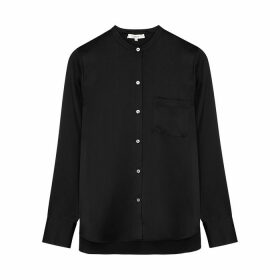 Vince Black Silk-satin Blouse