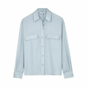 Vince Light Blue Twill Blouse
