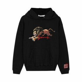 Givenchy Black Printed Hooded Cotton Sweatshirt