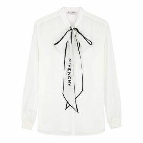 Givenchy Ivory Silk-chiffon Blouse