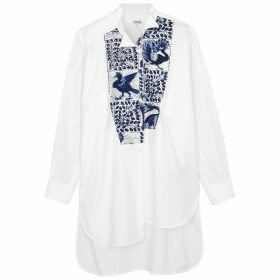 Loewe White Asymmetric Cotton Shirt