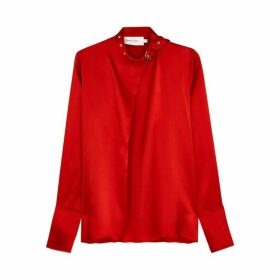 MARQUES' ALMEIDA Red Silk Blouse