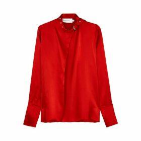 MARQUES' ALMEIDA Red Silk Blouse