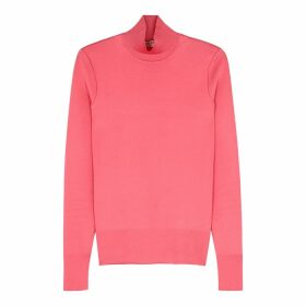 Givenchy Pink High-neck Stretch-knit Top