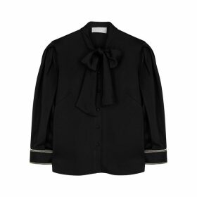 Peter Pilotto Black Satin Blouse