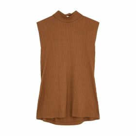 Rejina Pyo Rebecca Brown Ribbed Jersey Top