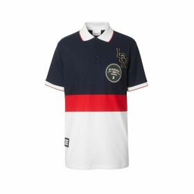Burberry Logo Graphic Cotton Pique Polo Shirt