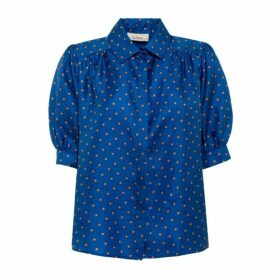 Lisou Betty Star Print Silk Shirt