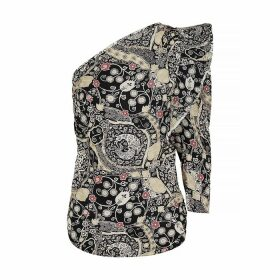 Isabel Marant Étoile Carina Printed One-shoulder Top