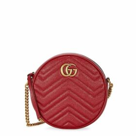 Gucci GG Marmont Mini Red Leather Shoulder Bag