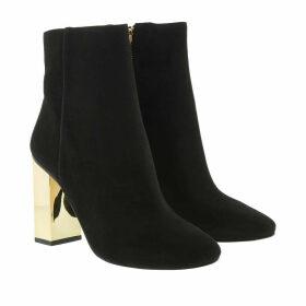 Michael Kors Boots & Booties - Single Sole Petra Bootie Galvanized Heel Black - black - Boots & Booties for ladies