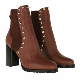 Valentino Boots & Booties - Rockstud Ankle Boots 90 Leather Bright Cognac - cognac - Boots & Booties for ladies