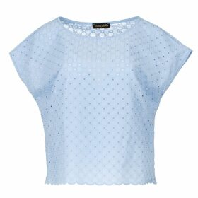 JIRI KALFAR - Crème Satin Shirt With Ruffles