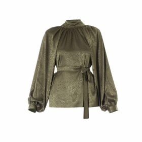Meem Label - Irina Neck-Tie Detail Blouse Green