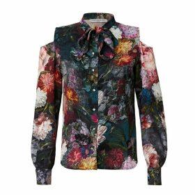 HASANOVA - Jardin Silk Swarovski Shirt