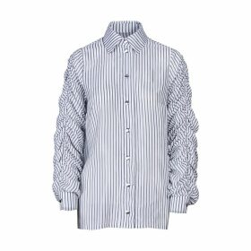 Acephala - Striped White Shirt