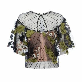 LAHIVE - Robbie Dimensional Floral Lace Cape Top