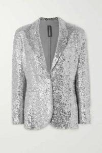 Norma Kamali - Sequined Jersey Blazer - Silver