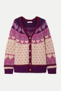 LoveShackFancy - Deena Intarsia-knit Cardigan - Blush