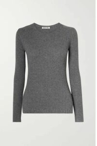 Alex Mill - Ribbed Wool And Cotton-blend Sweater - Anthracite