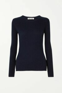 Alex Mill - Ribbed Wool And Cotton-blend Sweater - Midnight blue