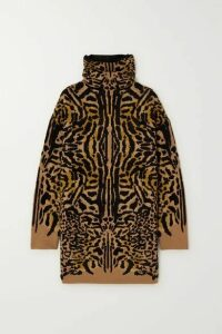 Givenchy - Leopard-jacquard Wool-blend Turtleneck Sweater - Leopard print
