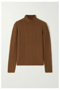 Theory - Cable-knit Cashmere Sweater - Brown