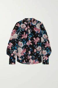 Erdem - Fayola Floral-print Silk Crepe De Chine Blouse - Black