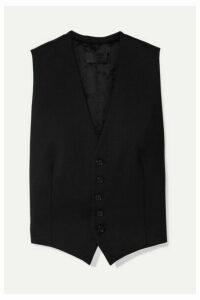 Nili Lotan - Angelina Wool-blend Twill Vest - Black
