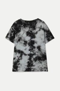Nili Lotan - Brady Distressed Tie-dyed Cotton-jersey T-shirt - Gray