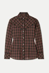 Nili Lotan - Ada Checked Cotton-voile Shirt - Red