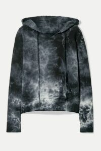 Nili Lotan - Janie Tye-dyed Cotton-jersey Hoodie - Gray