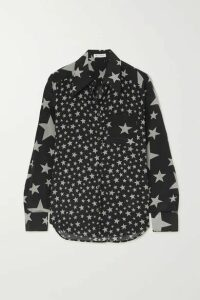 Bella Freud - Little Prince Printed Silk Crepe De Chine Shirt - Black