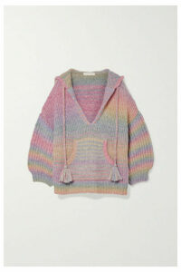 LoveShackFancy - Remington Knitted Hoodie - Purple