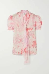 Jason Wu - Pussy-bow Floral-print Crepon Blouse - Blush