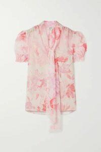 Jason Wu - Pussy-bow Floral-print Crepon Blouse - Blush