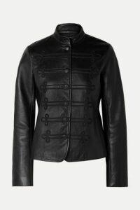 Nili Lotan - Jules Embroidered Leather Jacket - Black