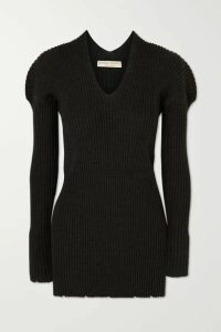 Bottega Veneta - Ribbed Wool Sweater - Charcoal