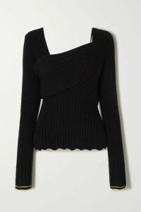 Bottega Veneta - Ribbed-knit Cotton-blend Sweater - Black