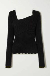 Bottega Veneta - Ribbed Cotton-blend Sweater - Black