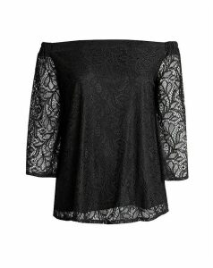 Lovedrobe GB Black Lace Bardot Top