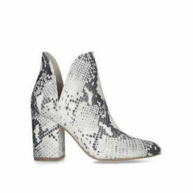 Steve Madden Rookie - Snake Print Block Heel Ankle Boots