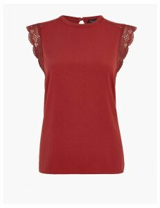 M&S Collection Lace Trim Top