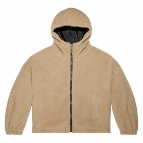 Women's Sherpa Cropped Full-Zip Hoodie
