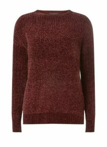 Womens **Tall Aubergine Chenille Jumper- Purple, Purple