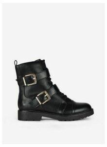 Womens Black 'Aurora' Hiker Boots, Black