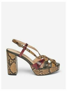 Womens Brown 'Savana' Platform Sandals, Brown
