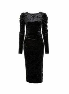 Womens **Lola Skye Black 80'S Scoop Back Bodycon Dress, Black